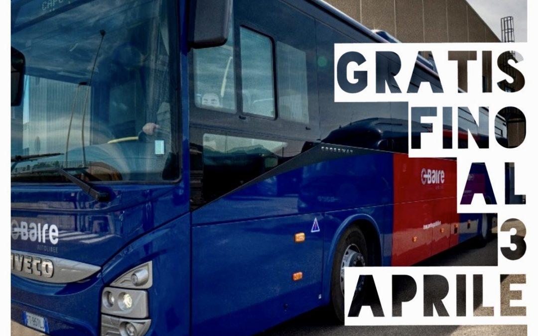 BUS GRATIS FINO AL 3 APRILE