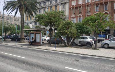 Cagliari, piazza Matteotti/cambio fermata